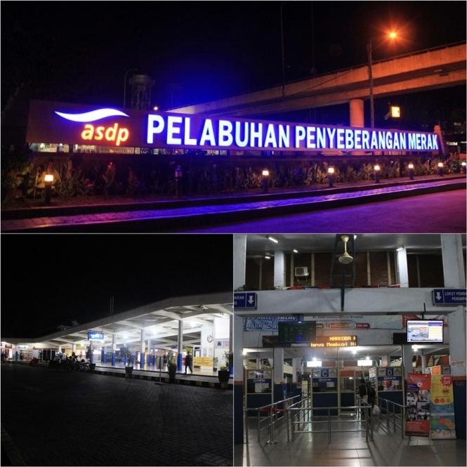 Pelataran pintu masuk ke pelabuhan merak banten (2015)